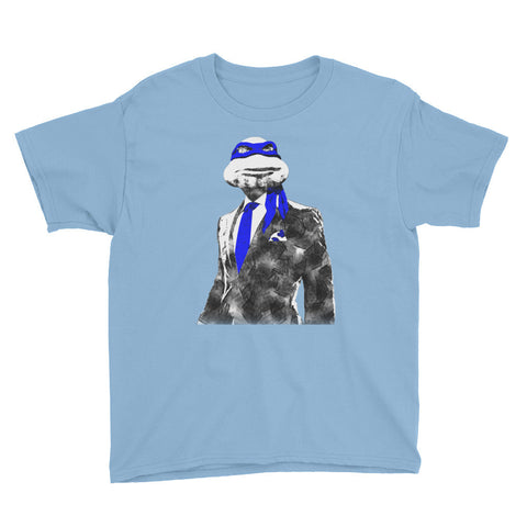 Blue Suit & Tie Youth Short Sleeve T-Shirt