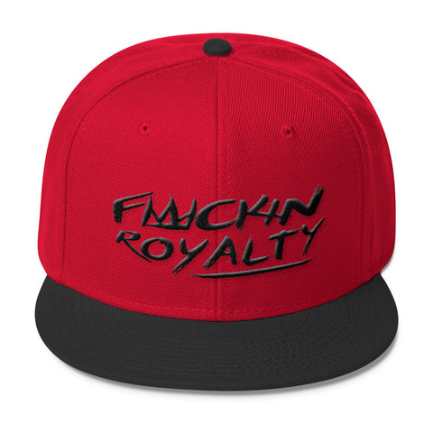 Fuckin Royalty (black text) Wool Blend Snapback