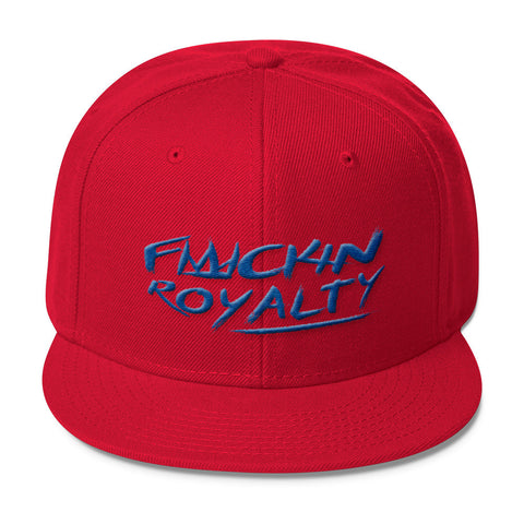 Fuckin Royalty (blue text) Wool Blend Snapback