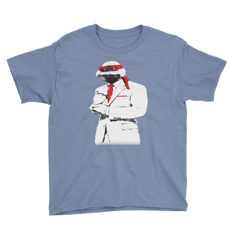 Red Suit & Tie Youth Short Sleeve T-Shirt