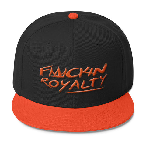 Fuckin Royalty (orange text) Wool Blend Snapback