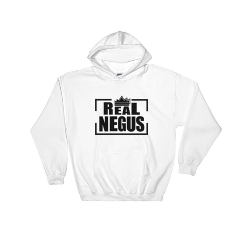 Real Negus (black text) Hooded Sweatshirt