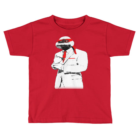 Red Suit & Tie Kids Short Sleeve T-Shirt