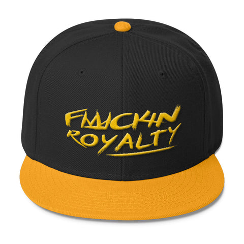 Fuckin Royalty (yellow text) Wool Blend Snapback