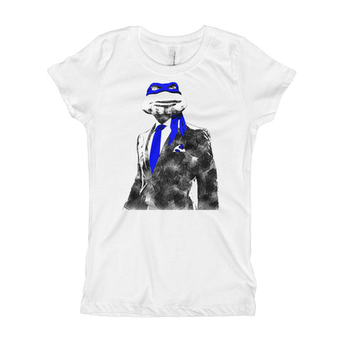 Blue Suit & Tie Girl's T-Shirt