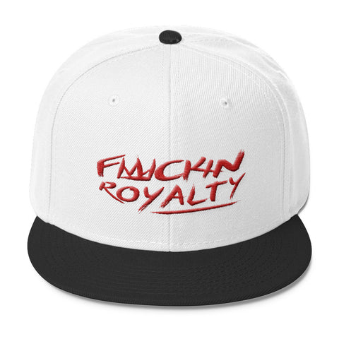 Fuckin Royalty (red text) Wool Blend Snapback