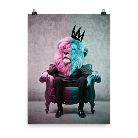 The World's Most Interesting King Poster