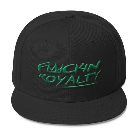 Fuckin Royalty (green text) Wool Blend Snapback