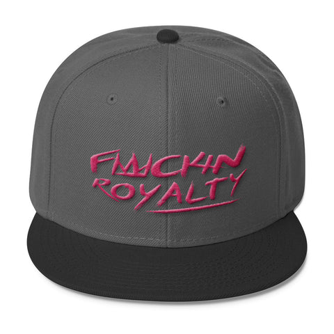 Fuckin Royalty (pink text) Wool Blend Snapback