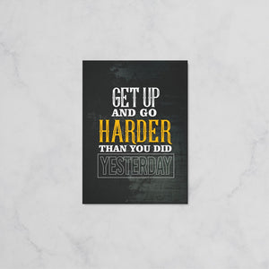 Get Up And Go - Hustler Canvas