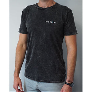 Hopesow T-shirt | Acid Black