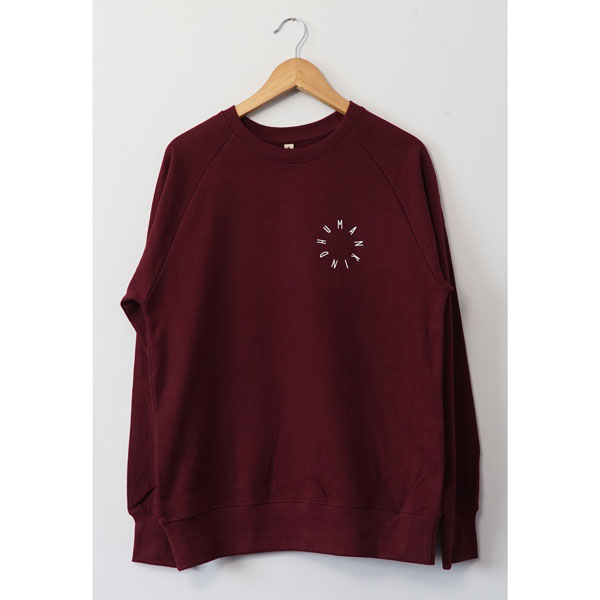 HumanKind Small Design Sweatshirt | Burgundy