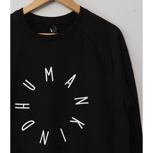 HumanKind Large Design Sweatshirt | Black