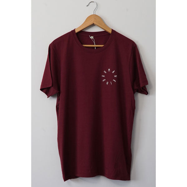 HumanKind Small Design T-shirt | Burgundy