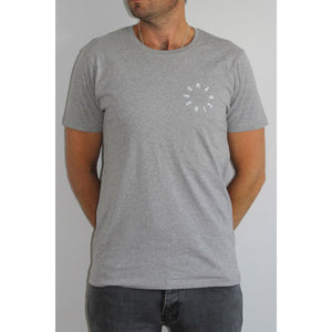 HumanKind Small Design T-shirt | Melange Grey