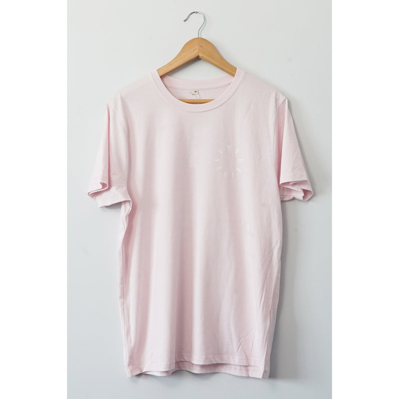 HumanKind Small Design T-shirt | Light Pink