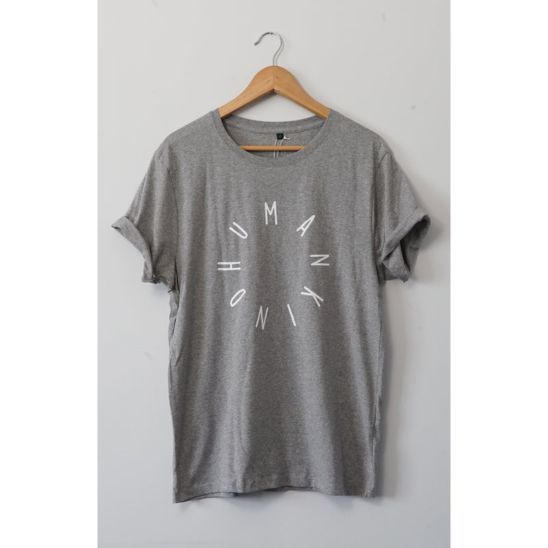 HumanKind Large Design T-shirt | Melange Grey