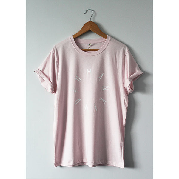 HumanKind Large Design T-shirt | Light Pink