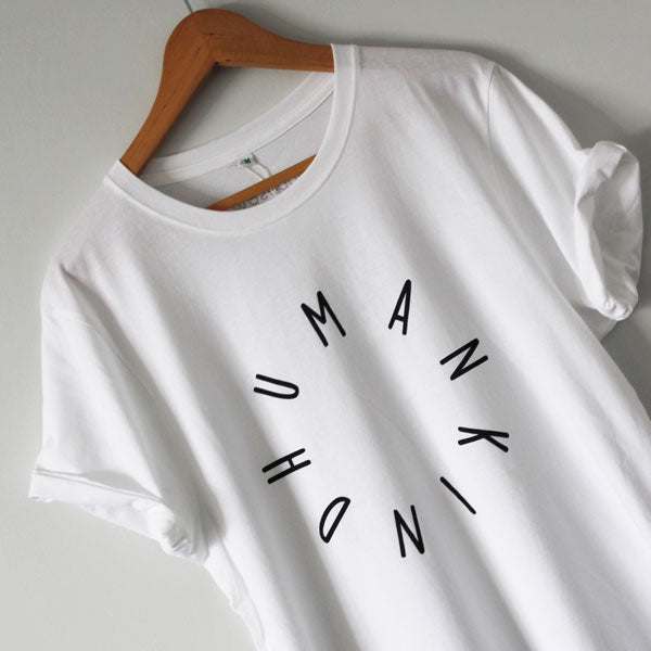 HumanKind Large Design T-shirt | White