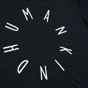 Humankind Large Design T-shirt | Acid Black