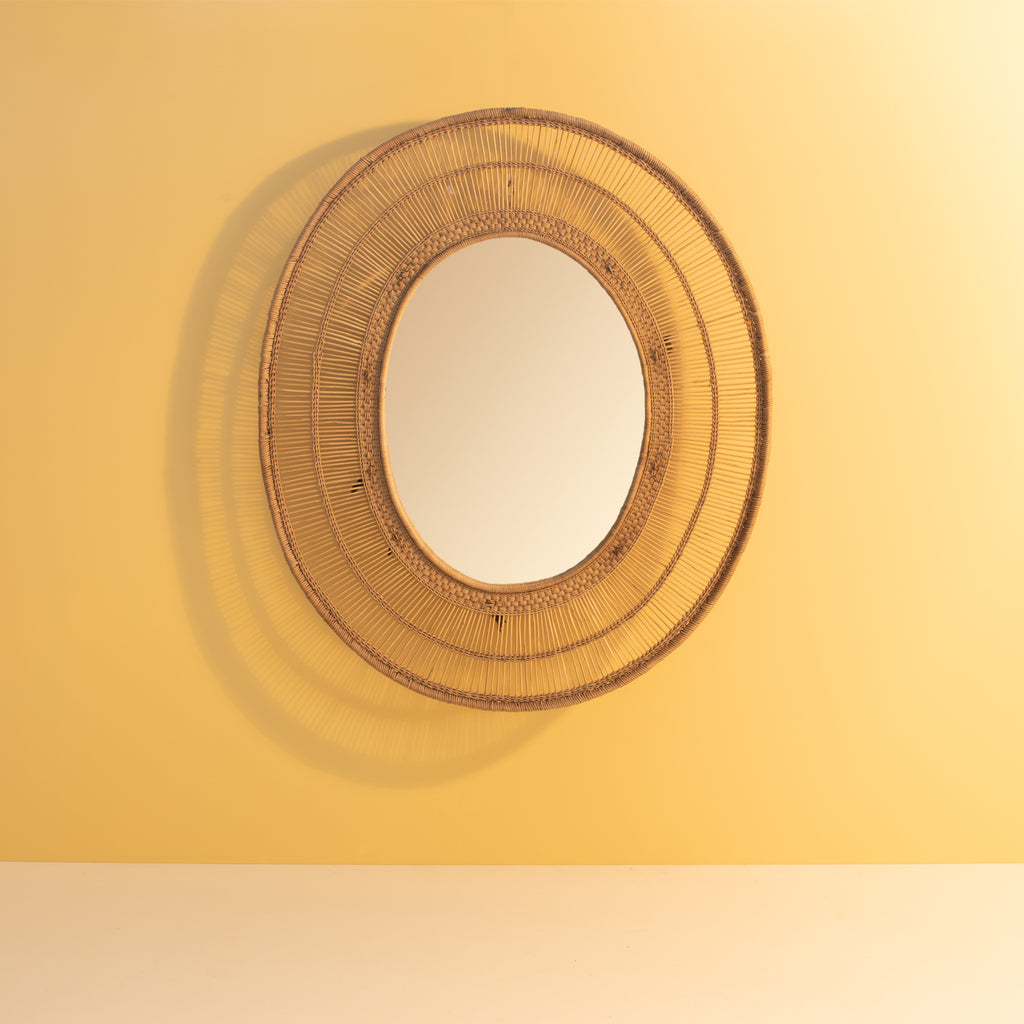 Malawi Oval Mirror Natural