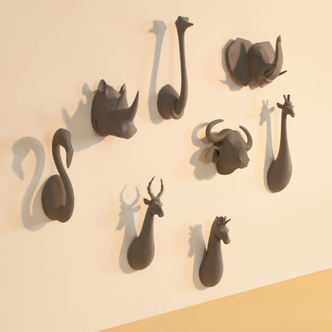 Stone Animal Head Hooks