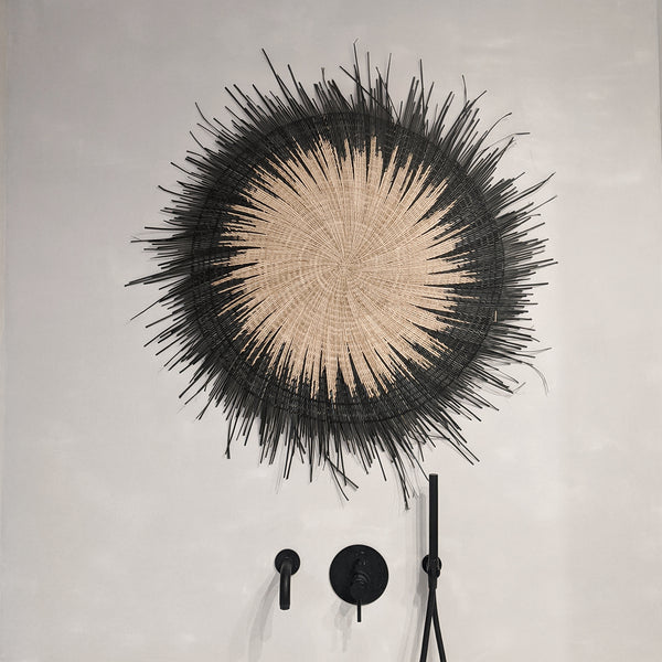 Sun Circle Wall Hanging Black