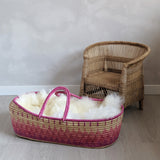 Pink Lilly Baby or Doll Basket