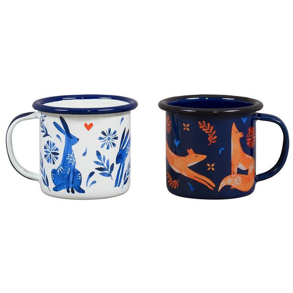 "Folklore espresso set ""Hare and Fox"""