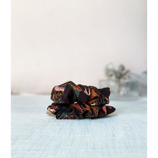 "Scrunchie ""Chocolate floral"""