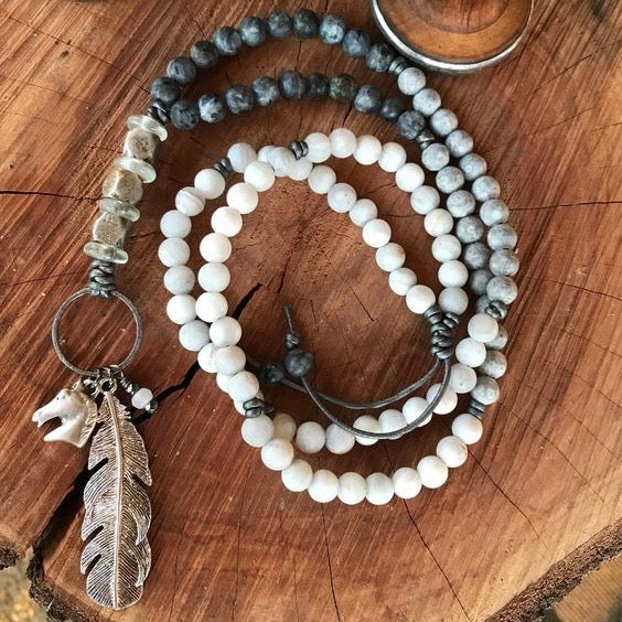 Ombré Matte Beaded Necklace