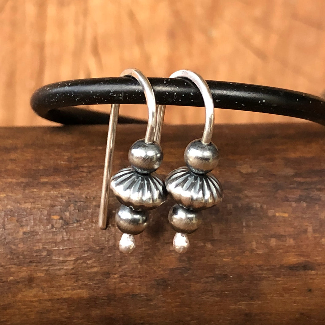 Sterling Navajo Pearl Earrings