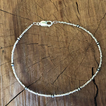 Hill Tribe Fine Silver Navajo Pearl Anklet