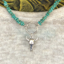 Tyrone Turquoise Steer Skull Necklace