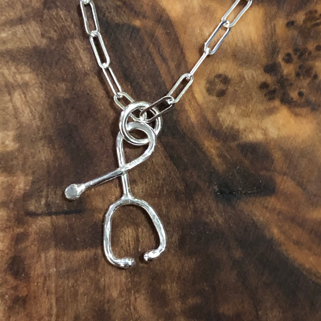 Sterling Stethoscope Necklace