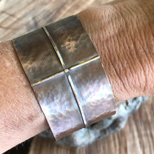 Folded Copper Cross Cuff