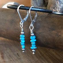 Stacked Turquoise and Navajo Pearl Earrings