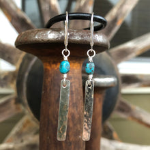Sterling Silver Genuine Turquoise Earrings