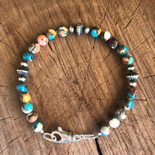 Kingman Turquoise Spiny Oyster Navajo Pearl Bracelet