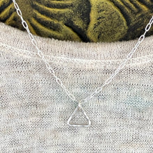 Sterling Triangle Necklace With Cable Chain