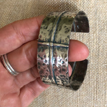 Hammered Sterling Cross Cuff