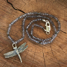 Mystic Quartz Sterling Dragonfly Necklace