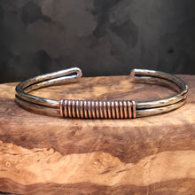 Copper Wrapped Sterling Silver Cuff