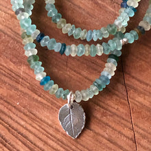 Roman Glass Sterling Leaf Necklace