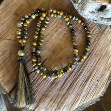 Iron Zebra Horse Hair Tassel Necklace