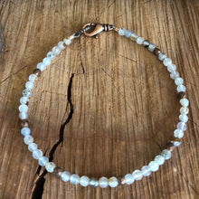 White Flower Agate Anklet