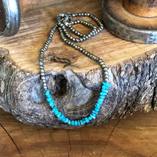 Pyrite and Turquoise Nugget Necklace