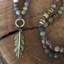 Picasso Jasper Feather Necklace