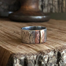 Sterling Copper and Brass Ring