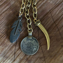 Coin, Horn and Feather Choker